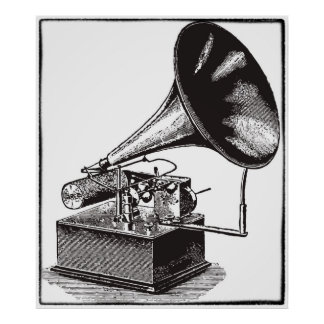 The old phonograph poster