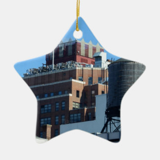 The Old Port Authority Building Double-Sided Star Ceramic Christmas Ornament
