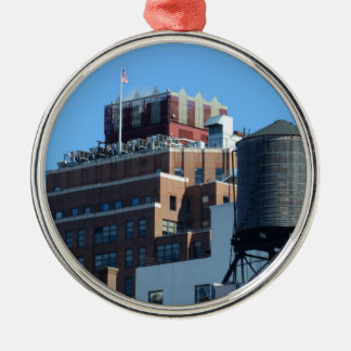 The Old Port Authority Building Round Metal Christmas Ornament