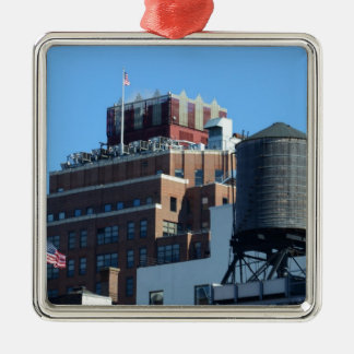 The Old Port Authority Building Square Metal Christmas Ornament