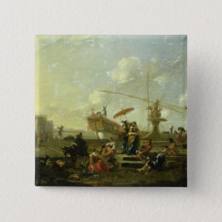 The Old Port of Genoa Pinback Button