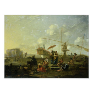 The Old Port of Genoa Print