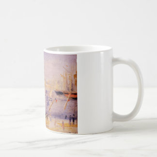 The Old Port of Marseille, People and Boats Coffee Mug