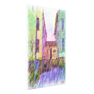 The Old prison drawing Canvas Print