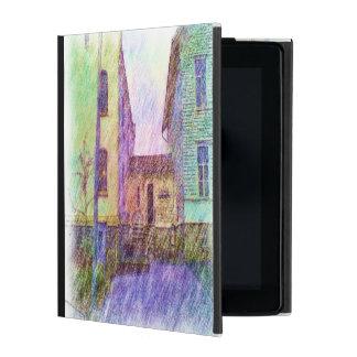 The Old prison drawing iPad Folio Case