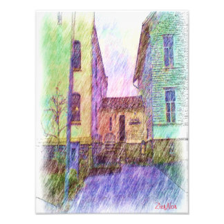 The Old prison drawing Photo Print