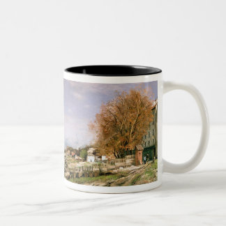 The old quay at Bercy, Paris, 1880 Two-Tone Coffee Mug