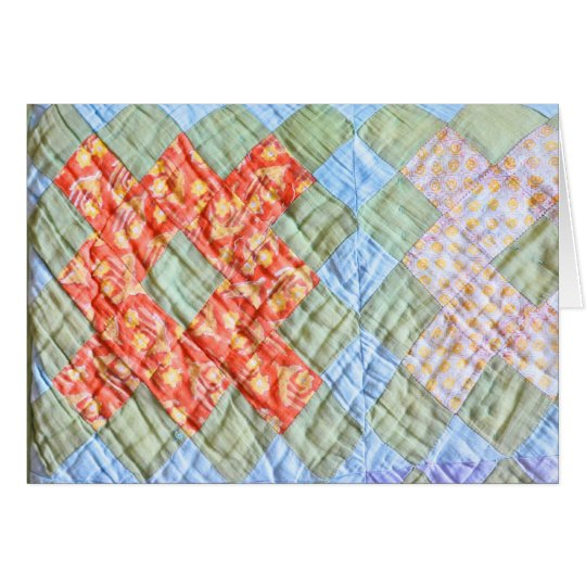 The old quilt card