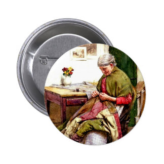 The Old Quilt - Walter Langley 2 Inch Round Button