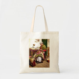 The Old Quilt - Walter Langley Canvas Bag