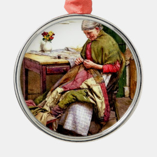 The Old Quilt - Walter Langley Metal Ornament
