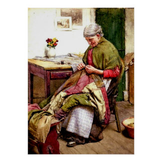 The Old Quilt - Walter Langley Print