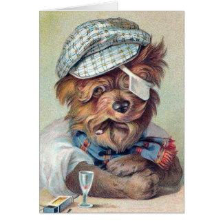 """The Old Rascal"" Vintage Dog Card"