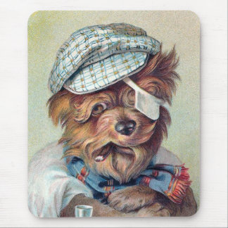 """The Old Rascal"" Vintage Dog Mouse Pad"