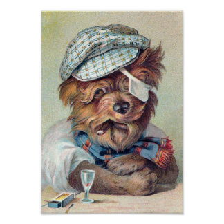 """""""The Old Rascal"""" Vintage Dog Posters"""