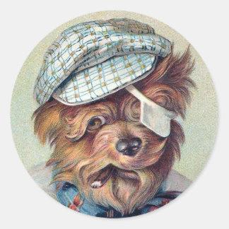 """The Old Rascal"" Vintage Dog Sticker"