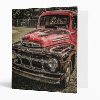 The Old Red Antique Truck 3 Ring Binder