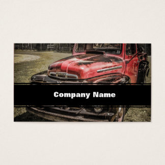 The Old Red Antique Truck Business Card