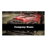 The Old Red Antique Truck Business Cards