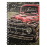 The Old Red Antique Truck Spiral Notebooks