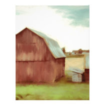 The Old Red Barn Letterhead