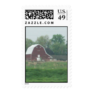 The Old Red Barn Postage Stamps