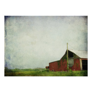 The Old Red Barn Print