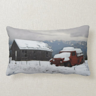 The Old Red Truck Lumbar Pillow