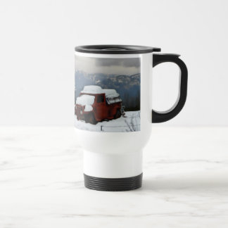 The Old Red Truck Travel Mug