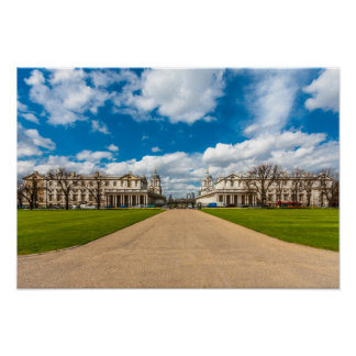 The Old Royal Naval College, Greenwich, England Poster