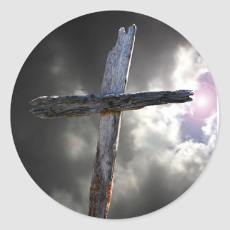 The Old Rugged Cross Classic Round Sticker