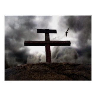 The Old Rugged Cross crucifixion of Jesus poster
