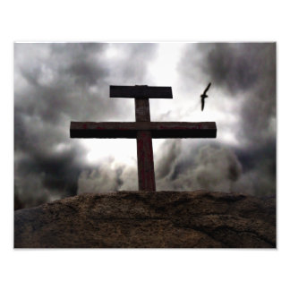The Old Rugged Cross of Christ Easter Photograph Photo Print