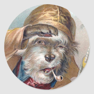 """""""The Old Sea Dog"""" Vintage Stickers"""