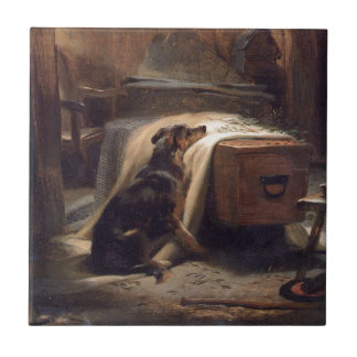 The Old Shepherd's Chief Mourner by Edwin Henry Ceramic Tile
