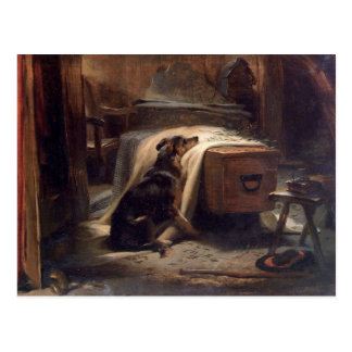 The Old Shepherd's Chief Mourner by Edwin Henry Postcard