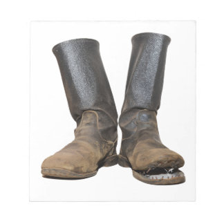 The old soldiers boots notepad
