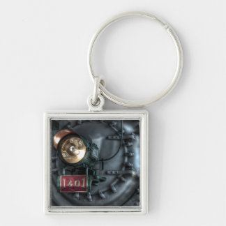 The Old Southern Railway Silver-Colored Square Keychain