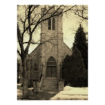 The Old Stone Church Print