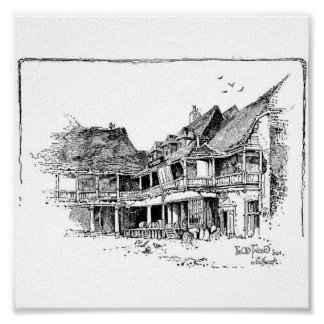 The Old Tabard Inn Canvas Posters