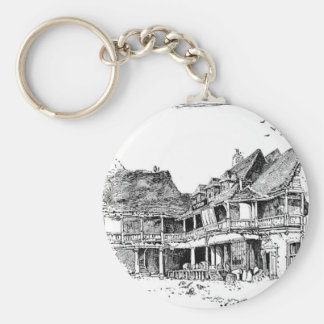 The Old Tabard Inn Basic Round Button Keychain