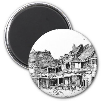 The Old Tabard Inn 2 Inch Round Magnet