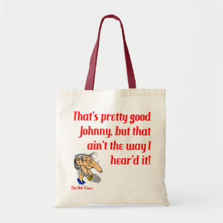 The Old Timer customizable tote bags