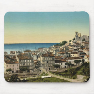 The old town, Cannes, Riviera classic Photochrom Mousepad