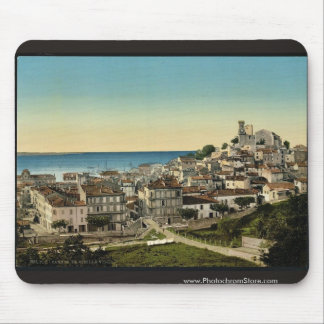 The old town, Cannes, Riviera classic Photochrom Mouse Pads