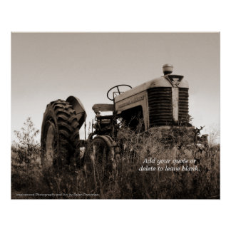 The Old Tractor Customizable Print