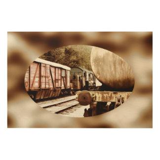 The Old Train Yard Wood Canvas