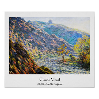 The Old Tree at the Confluence Claude Monet Poster