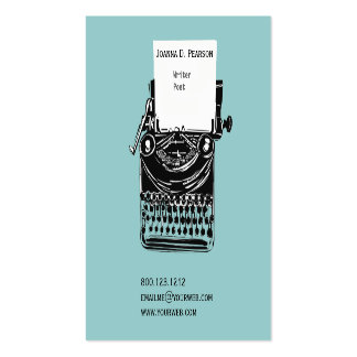 The Old Typewriter  Writer  Editor Publishing Double-Sided Standard Business Cards (Pack Of 100)
