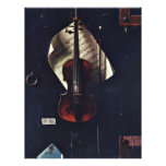 """The Old Violin By Harnett William Michael 8.5"""" X 11"""" Flyer"""